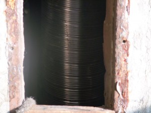 flexibel kanaal door het oude schoorsteen kanaal getrokken breda tramsingel