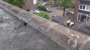 Nokvorst reparatie uitgevoerd op een platdak