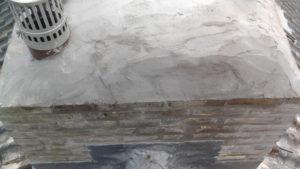 Nieuwe schoorsteen na voegen en impregneren bovenaanzicht